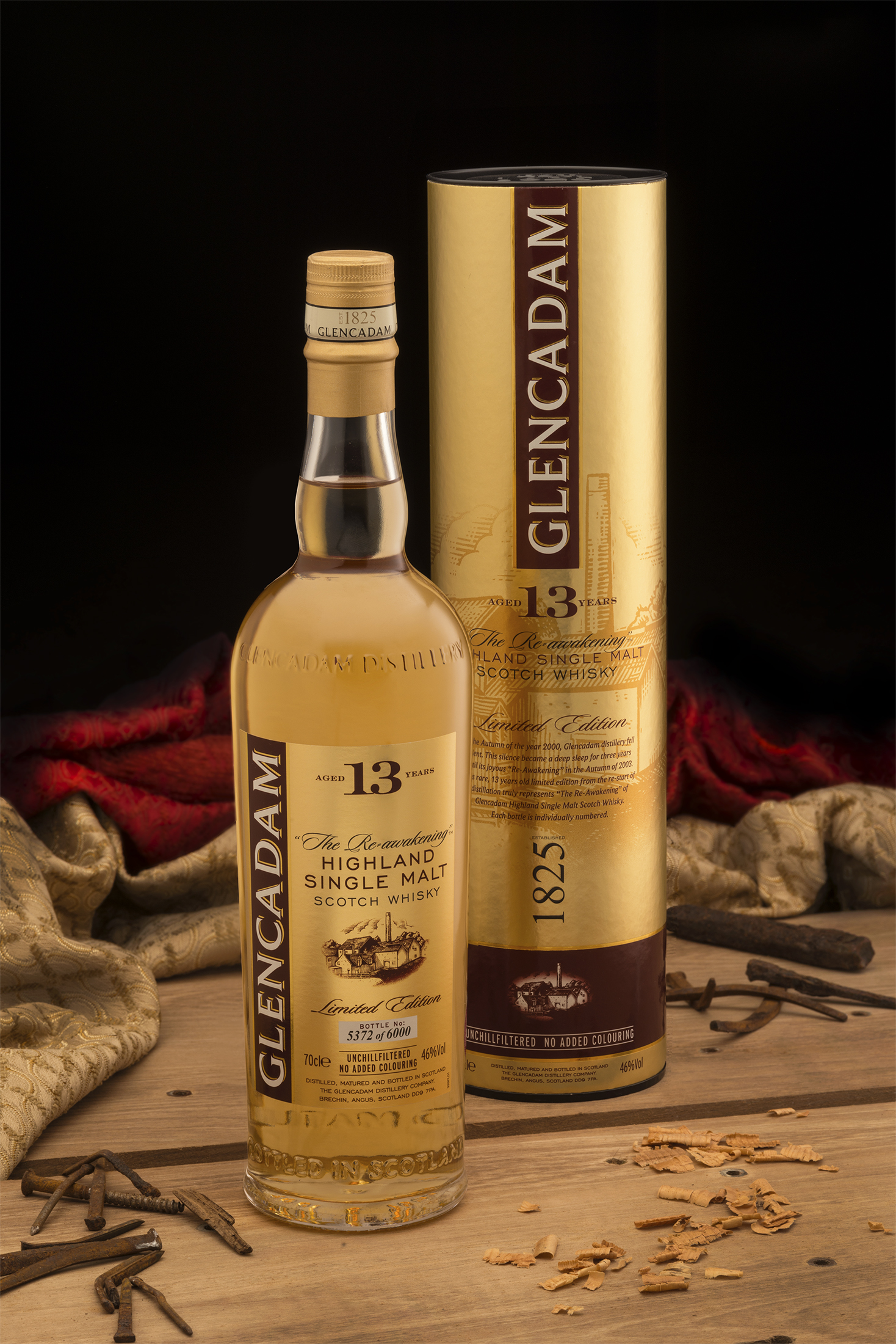 Limited Edition 13-Year-Old Whisky by Glencadam Distillery Limited Edition Limited Edition 13-Year-Old Whisky by Glencadam Distillery Glencadam 13 bottletube trad May 17
